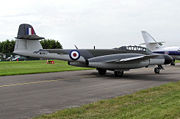 Warbird picture - Privately-owned Gloster Meteor NF11 in 2005. Built by Armstrong Whitworth in 1952 at their Baginton (Coventry) factory.