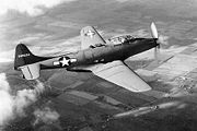 The first XP-75-GM in flight (S/N 43-46950)