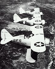 Warbird picture - Three F2F-1s in service with fighter squadron VF-2B