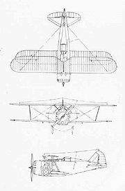 3-side drawing of a F3F-1