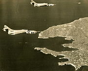 Warbird picture - Two F9F-8P from VFP-62 over Malta in 1958.