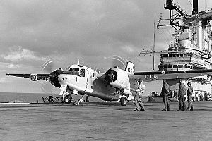 Warbird Picture - An S-2E ready for launching from the USS Bennington (CVS-20)