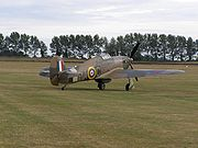 Warbird picture - Canadian-built Hurricane Mk XII painted to represent Hurricane Mk IIB Z5140 of 126 Squadron RAF