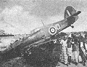 Warbird picture - Hawker Hurricane Mk.II of 232 Squadron shot down on 8 February 1942 during the Battle of Singapore