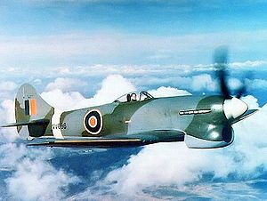 Warbird picture - A late production Hawker Tempest V piloted by Bill Humble.