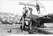 Warbird picture - A He 177 having an engine maintenance overhaul
