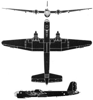 Warbird picture - he 177 drawing