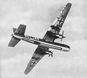 Warbird picture - He 177 A-02 production prototype with broad bladed propellers