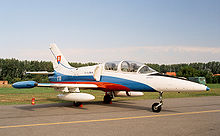 Airplane Picture - A Slovak L-39ZA (1701) in Biele Albatrosy colors at Radom Air Show 2005