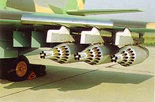 Airplane Picture - The under-wing pylons of the Il-102, armed with unguided rocket pods