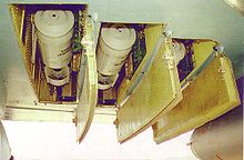 Airplane Picture - The under-wing bomb-bays of the Il-102, armed with bombs