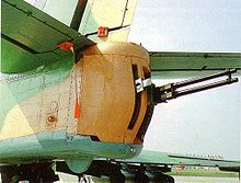 Airplane Picture - The tail turret of the Il-102, armed with a GSh-23L twin barreled cannon