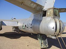 Airplane Picture - Another Iraqi Il-28 bomber seen from the rear.