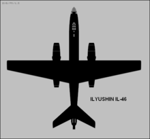 Airplane Picture - Ilyushin Il-46 plan view silhouette