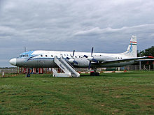 Airplane Picture - Malev Il-18 in at an open air aircraft museum at the Budapest Ferihegy International Airport