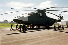 Airplane Picture - A Mexican Air Force Mil Mi-26 being loaded at Santa Lucx�a Air Force Base, Mexico