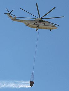 Airplane Picture - A Mi-26TC in firefighter role in action over Athens