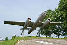 Airplane Picture - Ilyushin Il-28 monument at Tambov, Russia