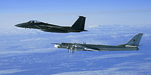 Airplane Picture - An F-15C Eagle intercepting a Russian Tu-95MS off the west coast of Alaska on 28 September 2006.