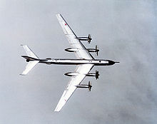 Airplane Picture - View of a Tu-95 showing its swept-wing planform