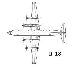Airplane Picture - Layout of Il-18