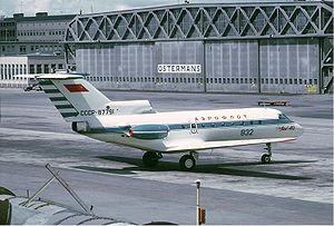Warbird Picture - Aeroflot Yak-40 at Bromma Airport in 1971