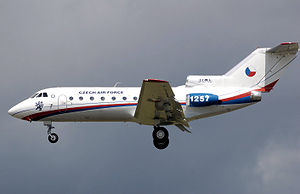 Airplane Picture - Czech Air Force Yak-40 landing