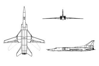 Airplane Picture - Orthographic projection of the Tupolev Tu-22M