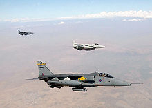 Airplane Picture - Three RAF Jaguars during Operation Northern Watch in September 1999.