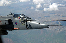 Airplane Picture - RAF Jaguar GR3 during mid-air refueling.