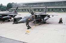 Airplane Picture - No. 2 Sqn Jaguar GR.1s at RAF Wildenrath, Germany, in 1978.