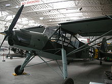 Airplane Picture - Restored Storch in IWM Duxford