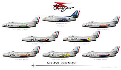 Airplane Picture - Arm�e de l'Air Dassault MD 450 Ouragans