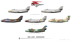 Airplane Picture - Foreign Dassault MD 450 Ouragans