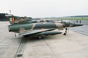 Warbird Picture - Line-up of Belgian Mirage 5s