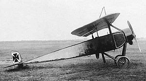 Warbird Picture - A captured Morane-Saulnier Type L with German insignia. Some believe it to have been a German Pfalz A.I, which was an unarmed license-built Type L, but it is missing the distinctive features of the A.I.