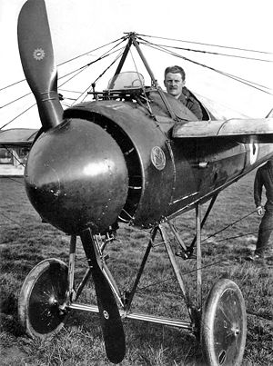 Warbird Picture - RFC Morane-Saulnier Type N Bullet, fitted with the immense