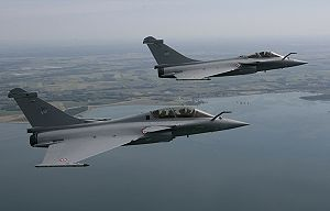 Warbird Picture - A Rafale B (foreground), and a Rafale C (background) of the French Air Force