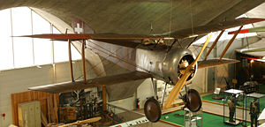 Warbird Picture - Swiss HD.1 in a museum