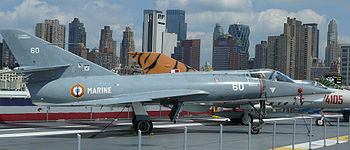 Airplane Picture - Etendard IVM on display at the Intrepid Sea-Air-Space Museum