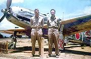 Warbird picture - Airplane picture - An ex-23rd Sentai, 2nd Chutai Ki-61 found and photographed at Inba airbase by USAAF personnel in 1946.