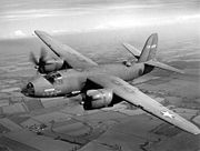 U.S. Army Air Forces B-26B bomber in flight.