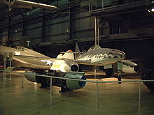 Warbird picture - Me 262A and its Junkers Jumo 004 turbojet engine (Yellow 5)