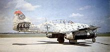 Warbird picture - Side view of a Me 262B-1a/U1 night fighter, note the radar antenna on the nose and second seat for a radar operator.
