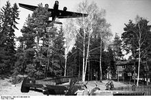 Airplane Picture - Helmut Lent's Bf 110C. Lent ran out of fuel and force landed at Oslo Fornebu airfield on April 9, 1940[20]
