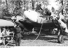 Airplane Picture - Bf 110C under refueling, October 1940
