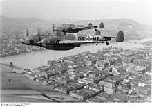 Airplane Picture - Bf 110Gs over Budapest, Hungary, 1944