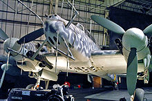 Airplane Picture - A Bf 110 G-4 night fighter at the RAF Museum in London.