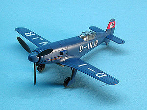 Airplane Picture - Messerschmitt Me 209 V1 (display model showing authentic colors and markings)