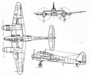 Airplane picture - Me 210 Diagram